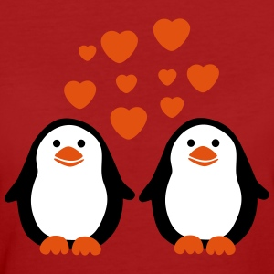 Penguins in Love Tee shirts - T-shirt Bio Femme