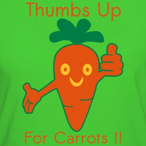 Happy Carrot Thumbs Up Tee shirts - T-shirt Bio Femme