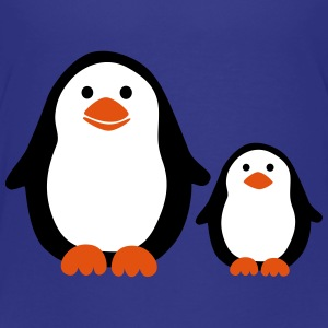 Penguin with Baby Shirts - Kinderen Premium T-shirt