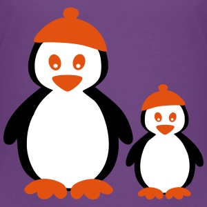 Penguins with Beanie Shirts - Kinderen Premium T-shirt