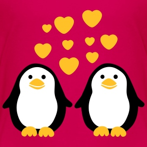 Penguins in Love T-Shirts - Kinder Premium T-Shirt