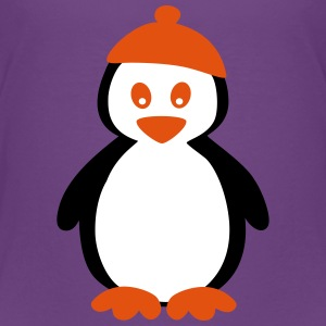 Penguin with Beanie Skjorter - Premium T-skjorte for barn