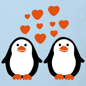 Penguins in Love Tee shirts - T-shirt Bio Enfant