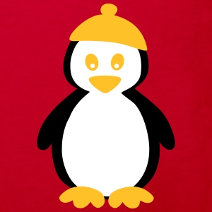Penguin with Beanie T-shirts - Ekologisk T-shirt barn