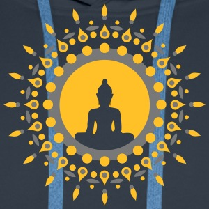 Buddha meditation, spiritual symbol enlightenment Gensere - Premium hettegenser for menn