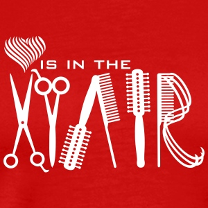love is in hair (1c) T-Shirts - Männer Premium T-Shirt