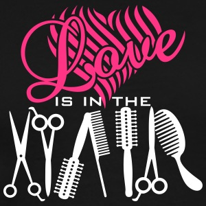 love is in hair (2c) T-Shirts - Men's Premium T-Shirt