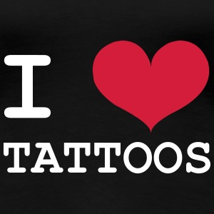 I Love Tattoos T-shirts - Dame premium T-shirt