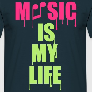 Music Is My Life Tee shirts - T-shirt Homme