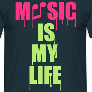 Music Is My Life T-shirts - Mannen T-shirt