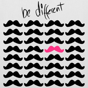 Mustache Moustache be different 2c Bags  - Tote Bag