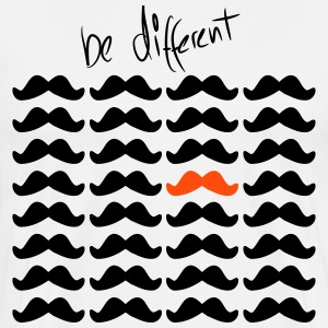 Mustache Moustache be different 2c Camisetas - Camiseta premium hombre