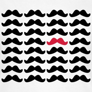 Mustache Moustache Be Different 2c Tee shirts - T-shirt Femme