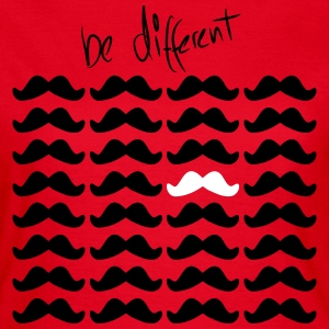Mustache Moustache be different 2c Magliette - Maglietta da donna