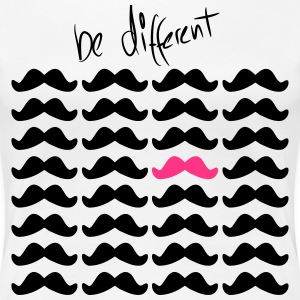 Mustache Moustache be different 2c T-shirts - Premium-T-shirt dam