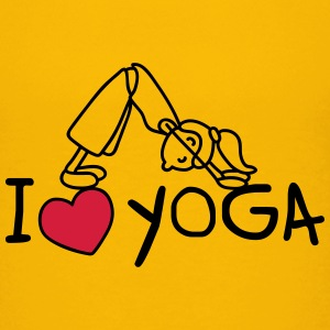 I love yoga Shirts - Teenage Premium T-Shirt