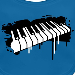 Piano keyboard in graffiti style Accessories - Baby Organic Bib