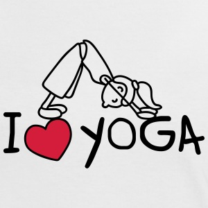 I love yoga T-Shirts - Frauen Kontrast-T-Shirt