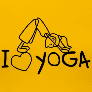 I love Yoga  T-Shirts - Frauen Premium T-Shirt