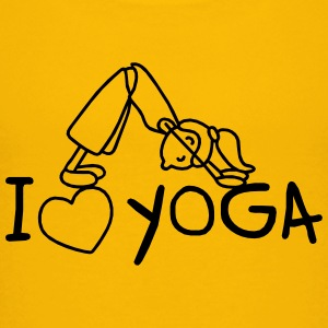 I love Yoga  T-Shirts - Teenager Premium T-Shirt