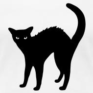 Design ~ Black Cat design Ladies t-shirt