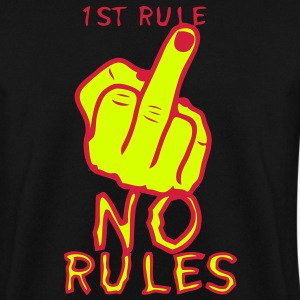 1st rule no fuck insulte doigt finger Sweat-shirts - Sweat-shirt Homme