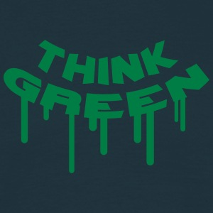Think Green Graffiti T-skjorter - T-skjorte for menn