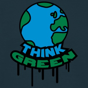 Think Green Earth T-shirts - Mannen T-shirt