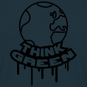 Think Green Earth T-shirts - Herre-T-shirt