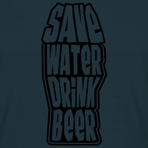 Save Water Drink Beer T-skjorter - T-skjorte for menn