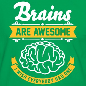 Brains are awesome - I wish everbody had one T-shirts - Herre kontrast-T-shirt