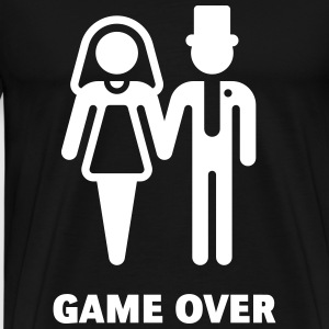 Game Over (Wedding / Marriage) T-Shirts - Men's Premium T-Shirt