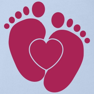 Heart Baby Feet Shirts - Organic Short-sleeved Baby Bodysuit