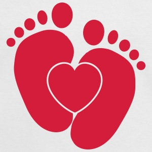 Heart Baby Feet T-Shirts - Women's Ringer T-Shirt