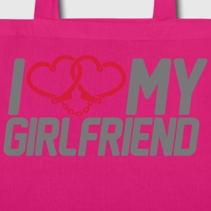 I Love my Girlfriend Bags  - EarthPositive Tote Bag