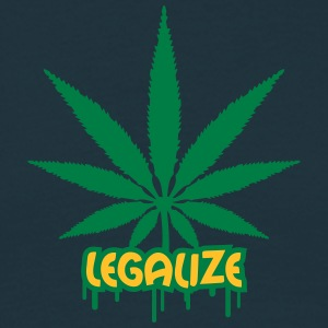 Legalize Weed Graffiti T-shirts - Herre-T-shirt