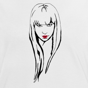 Blonde girl with pink lipstick - Women's Ringer T-Shirt