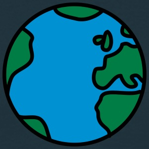 Cool Comic Earth T-shirts - Herre-T-shirt