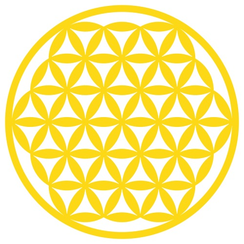 Blume des Lebens verschmolzen Heilige Geometrie