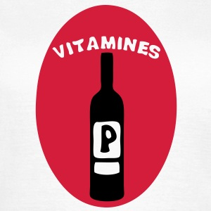vitamine pinard vin bouteille alcool hum Tee shirts - T-shirt Femme