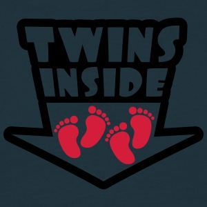 Twins Inside Feets T-shirts - Mannen T-shirt