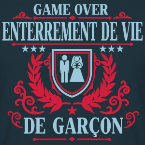 Enterrement de vie de garçon - Game Over Tee shirts - T-shirt Homme
