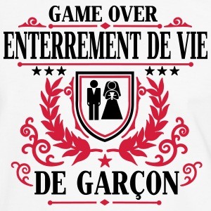 Enterrement de vie de garçon - Game Over Tee shirts - T-shirt contraste Homme