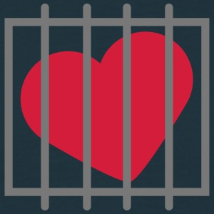 Heart In Jail T-Shirts - Men's T-Shirt