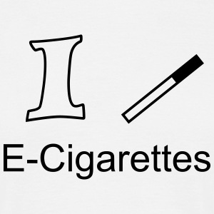 I like E-Cigarettes T-Shirts - T-skjorte for menn