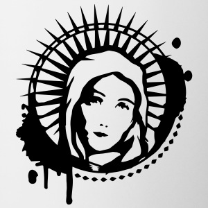 Holy Mary portrait graffiti stencil Bottles & Mugs - Mug