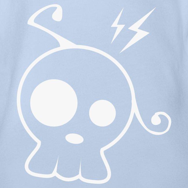 t-shirt bébé glitter skull candie