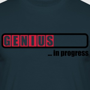 Genius in progress T-shirts - Herre-T-shirt