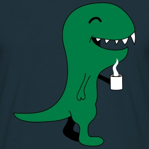 Coffee Dino T-skjorter - T-skjorte for menn