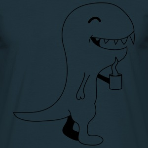 Coffee Dino T-shirts - Herre-T-shirt
